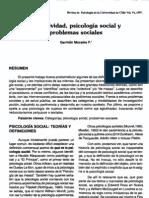 Morales G. - Subjetividad, Psicología Social y problemas sociales