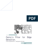 Canny's Filter for Edge Detection