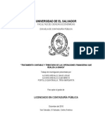 Bancos en El Salvador Tesis