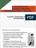 Elementos Geneticos de Resistencia en La Poblacion Microbiana