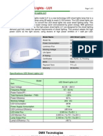 LED Street Lights LU1 Specifications