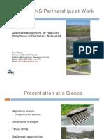 Yahara WINS -- Adaptive Management for Phosphorus -- Sweet Water Policy Mtg. 3.19.13