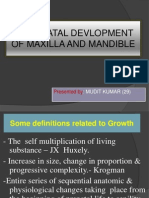 GROWTH AND DEVELOPMENT MAXILLA AND MANDIBLE