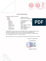 Surat Pernyataan Surveyor Ind