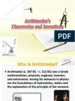 Archimedes Discoveries and Invention