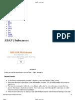 10 ABAP _ Subscreens