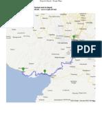 Bogor to Bayah Map