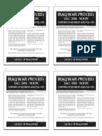 Iraq War Protest (Quarter)