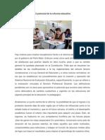 El Potencial de La Reforma Educativa