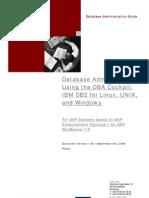 DB Admin Using DBA Cockpit IBM DB2 for Linux Unix Wind