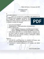 Autorizacion LA PUERTA Marzo 09