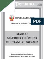 Marco Economico Multianual 2013-2015
