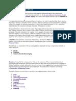 Introduction to Balance Sheet E