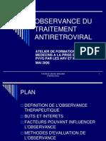Observance Aux Traitements Antiretroviraux