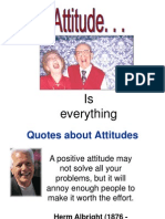 Attitudes is Everything
