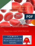 Anemias macrocíticas megaloblásticas y no megaloblásticas