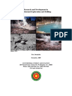 Research and Development in Geothermal Exploration and Drilling