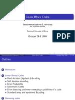 2 Linear Block Codes