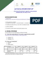 Model Concurs PLAN de AFACERI Start Up