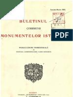 Buletinul Comisiunii Monumentelor Istorice, anul 1912, IX