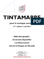 Biblio-Discographie Tintamarre 2013