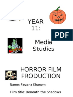Horror Booklet