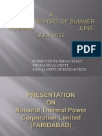 PROJECT REPORT OF SUMMER TRAINING                            JUNE-JULY-2012