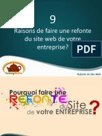 Refonte de Site:9 Raisons de faire une refonte de votre site web?