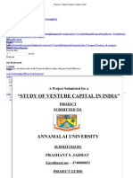 Project on _Study of Venture Capital in India