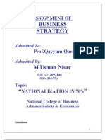 Project Business Strategy
