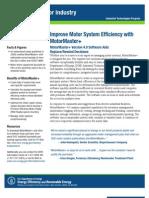 Motormaster Fact Sheet