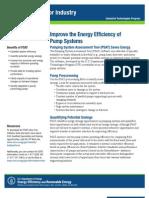Pumping System Assessment Tool Fact Sheet