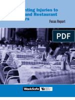 Preventing Injuries to Hotel and Restaurant Workers (WorkSafe)