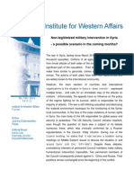 Joanna Dobrowolska-Polak, Non-legitimized military intervention in Syria - a possible scenario in the coming months?