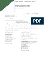 McKinley v CFTC SEC Stipulation of Dismissal (Lawsuit #5)