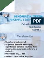 Hemorragia Uterina Anormal y Disfuncional Guardia 1