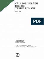 Calatori Straini Despre Tarile Romane, Vol. 8 (1983)
