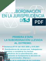 La Subordinación en la Jurisprudencia del TSJ