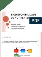 Aula 6 - Biodisponibilidade de Nutrientes