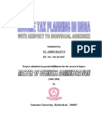 , Income Tax Planning in India With Respect to Individual Assessee