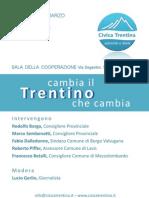 Cambia il Trentino che Cambia