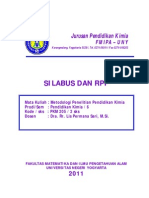 Silabus Matakuliah Metodologi Penelitian Pendidikan Kimia [PKM205]