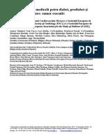 Diabet, Prediabet Si Bolicardiovasculare