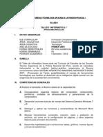 Silabus Informatica ETS - PNP