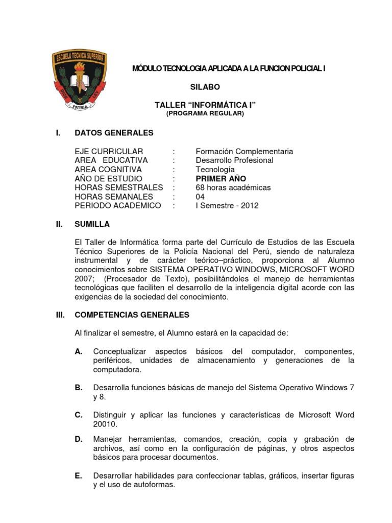 Asombroso Resumen De La Lista De Habilidades Básicas De Informática ...