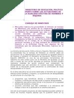 Informe Del Ministerio de EducaciÓn