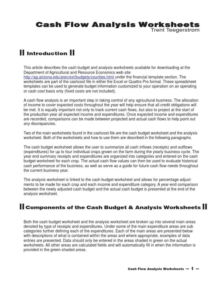 Cash Budget Budget Expense
