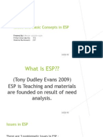 Issues and Basic Consepts in ESP2
