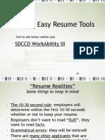 Quick Resume