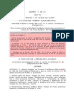 Decreto 0778 de 1987 -Tabla Enfermedades Profesionales